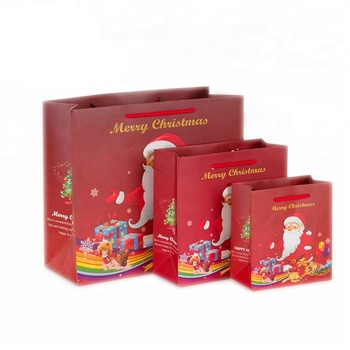Whole Luxury Retail Ping Ng Custom Colored Boutique Paper Christmas Gift Bags With Handle