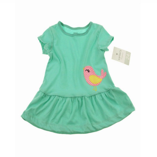 2ac061b3c13 100% cotton baby dress new 2015 girl clothing carters blue bow infant dress  free