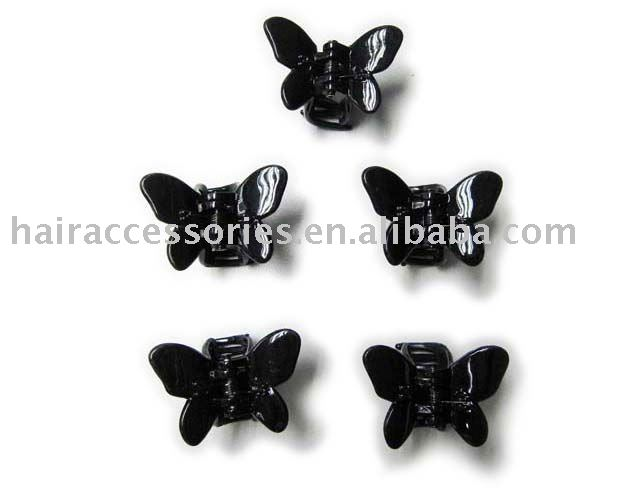 3 Hair Claw Clips Butterfly Mini Claws Clamps Clip Plastic Grip Tort Small Snap