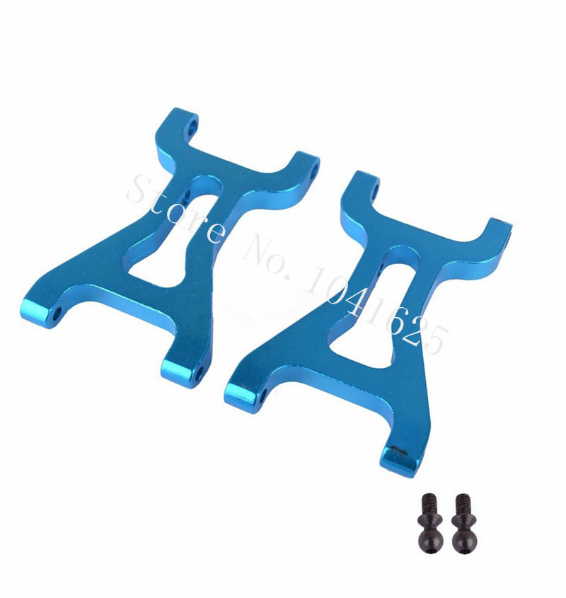 Wltoys A959 A969 A979 Upgrade Parts Aluminium alloy Front Lower Suspension Arm A959-02 Blue For RC HSP1/18 Model Car 580019