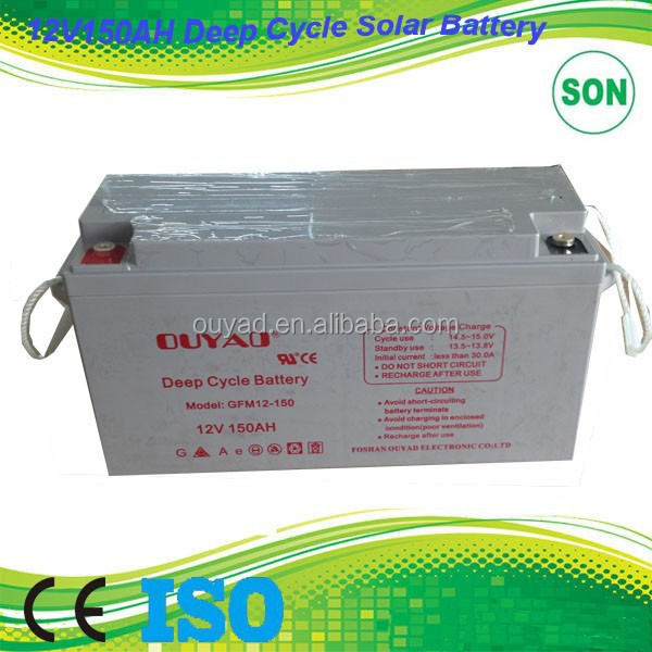 150AH 12V solar panel battery for solar energy storage system