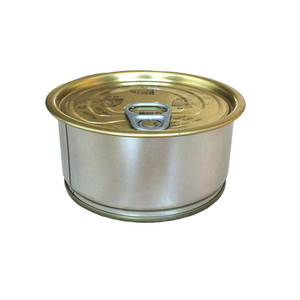 Wholesale tin self seal easy open end empty tuna cans with pull tab