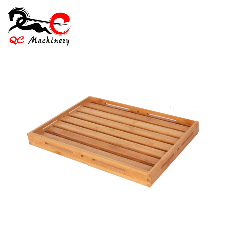 Japanese High Quality Beech Wood Tray Rectangle Shaped wooden sushi plate