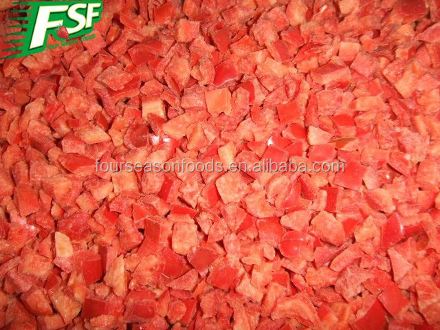 wholesale chinese IQF frozen red pepper dices, bulkfrozen red bell pepper 2016 new crop