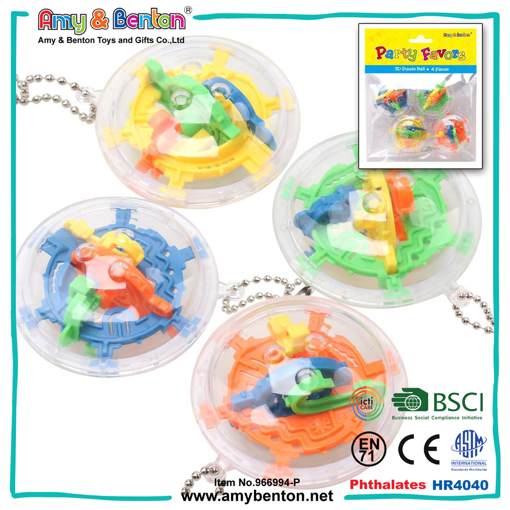 Plastic educational toys 3d maze game toy perplex ball