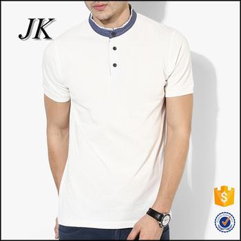 2af441496 Mens Two Colors Slim Fit Short Sleeve Mandarin Collar T Shirt Polo ...
