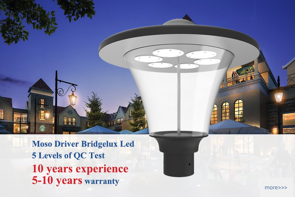 Round Ip65 Outdoor Manor House Led Garden Pole Lighting