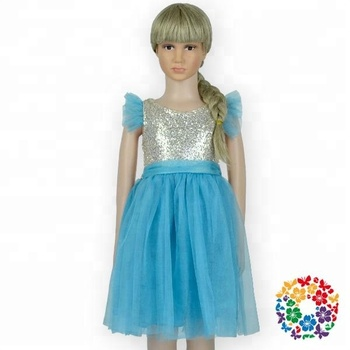 Latest Design Blue Baby Lovely Birthday Party Dresses