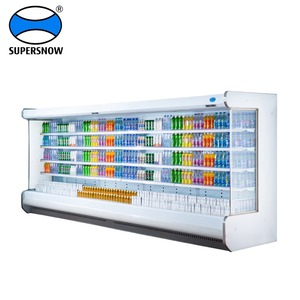 Supermarket refrigerator/vegetable refrigerating showcase/upright display freezer for supermarket