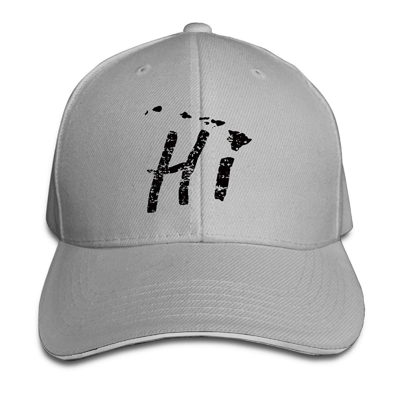 9129563f Get Quotations · YVSXO chapeau Visor Hawaii HI Islands American Fashion  Snapbacks Red Sandwich Peaked Cap