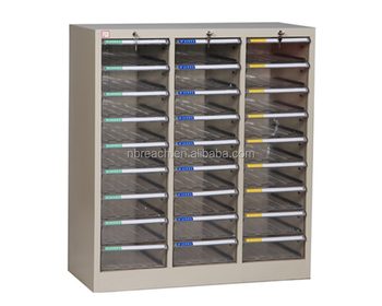 Steel Body Plastic Drawer Spare Parts Storage Cabinet