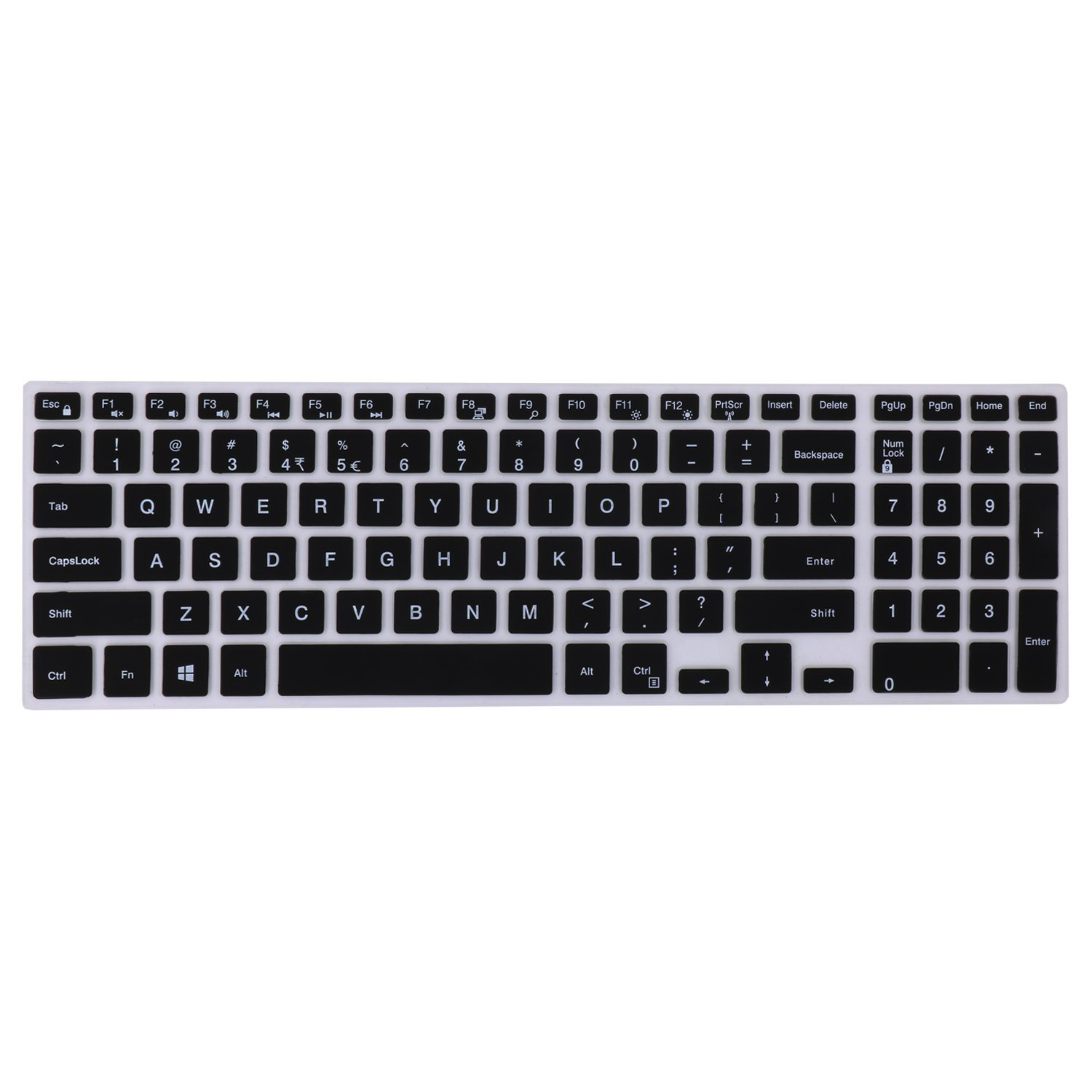 FORITO Thin Dell Keyboard Cover for 15.6-inch DELL Laptop Inspiron 15 i5558, Dell Inspiron 15 3000 5000, Inspiron 17 5000 series laptop, Keyboard Protector Dell Inspiron 15 Laptop US Layout (Black)