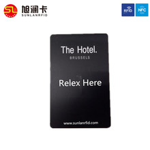 High quality plastic electric hotel door magnetic stripe key card with chip