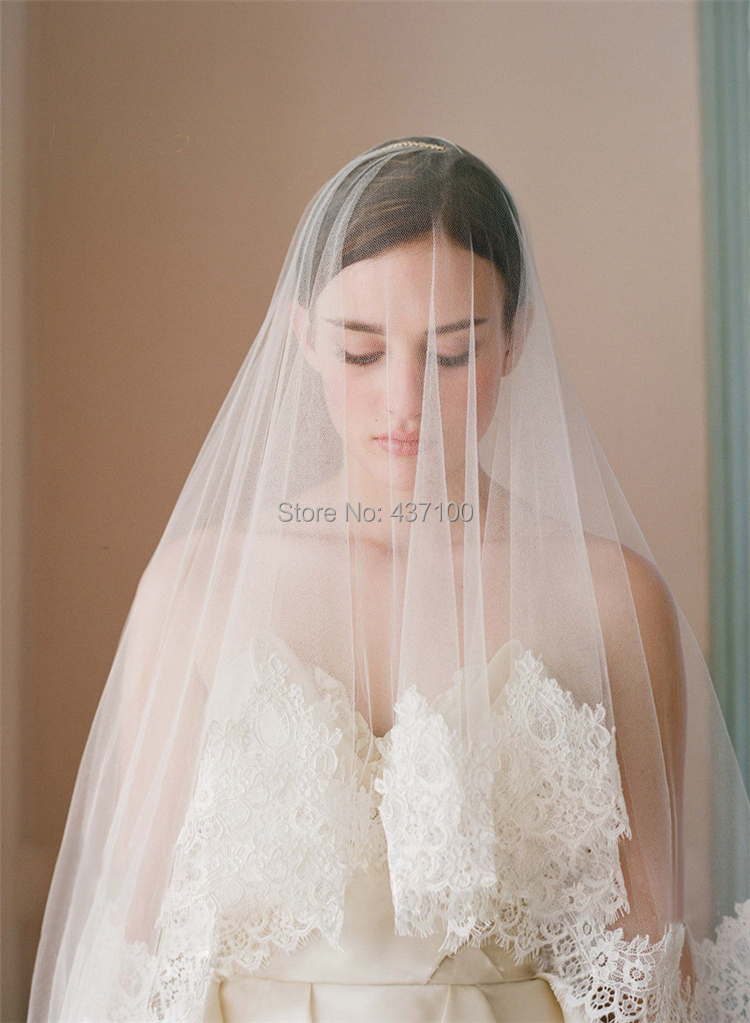 Buy Jiani Square Wedding accessories 3 m lace veil TS105 ...