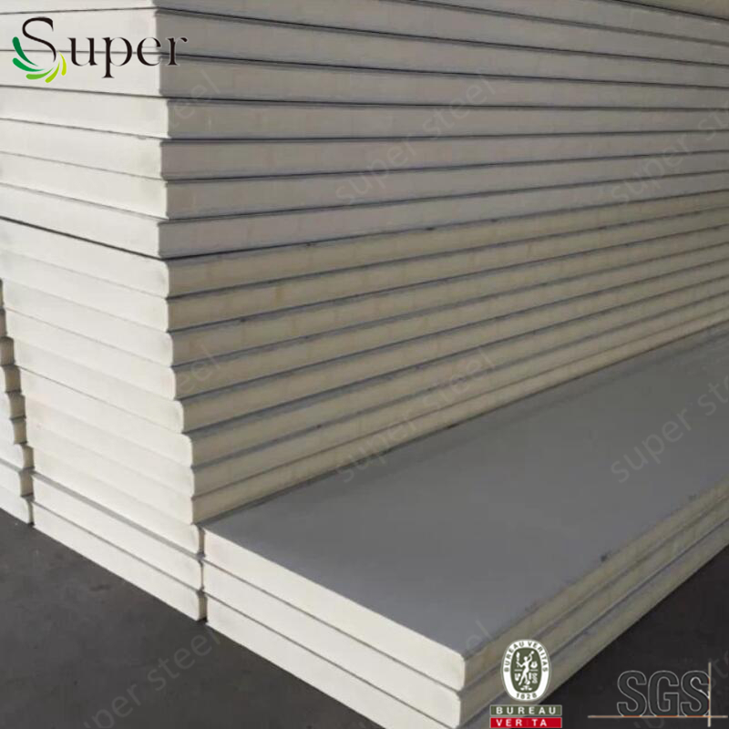 Insulated/exterior fireproof PU sandwich panel for prefabricated house/clean rooms/warehouse