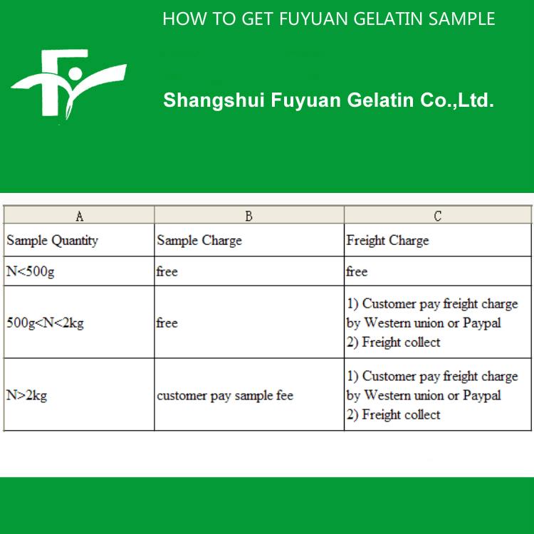 4.HOW TO GET FUYUAN GELATIN SAMPLE
