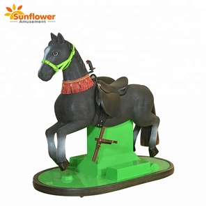2018 New Arrival 3D Horse Running Rides For Outdoor Playground Amusement Parks