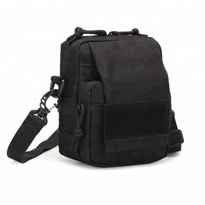 Black Small Camouflage MOLLE Tactical One Shoulder Bag Cell Mobile Smart Phone Pouch Holder Military Tool Utility Messenger Bags