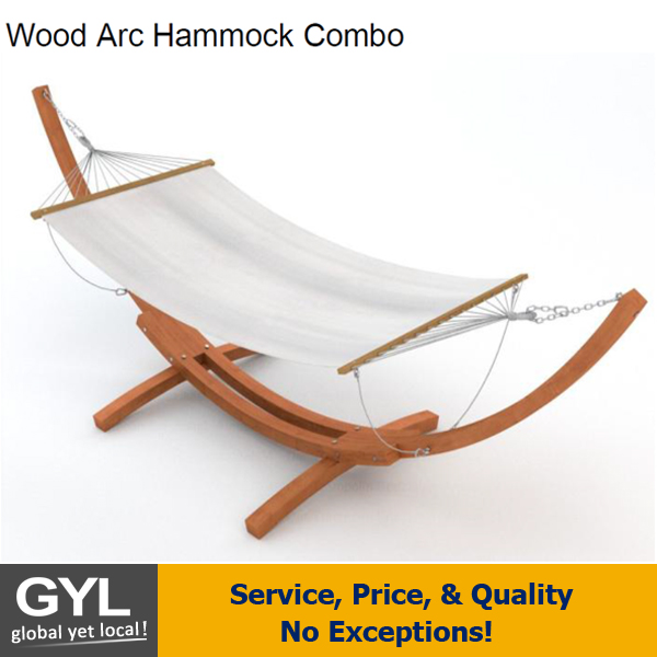 Wooden Curved Arc High Quality Hammock Stand