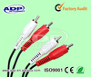 Transparent PVC 2 RCA to 2 RCA Cable/Avi To RCA audio signal cable