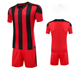 custom dye sublimation used striped soccer uniforms