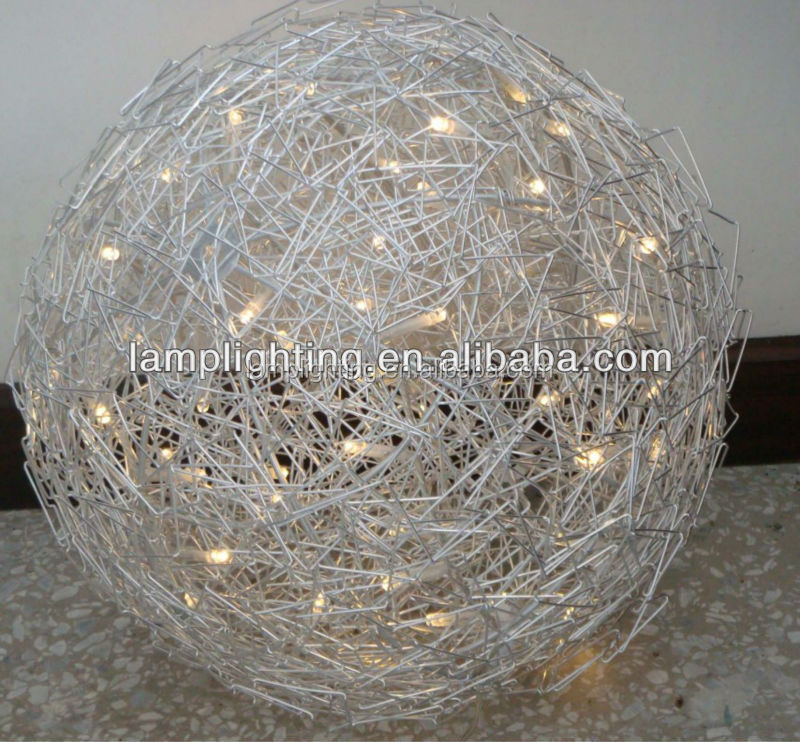 Wire ball lamp wire center big festival celebration aluminium led aluminum wire floor lamp rh alibaba com chrome wire ball floor keyboard keysfo Choice Image