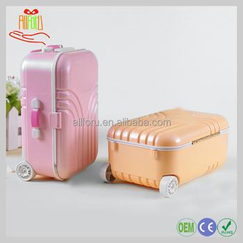 220105b29 Venta al por mayor Mini maleta de viaje de Draw-bar caja de música bailarina