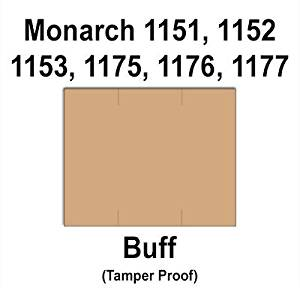 96,000 Monarch 1151 Buff Brown General Purpose Labels to fit the Monarch 1151, 1152, 1153, 1175, 1176, 1177, 1180, & 1361 Price Guns. Full Case, Free Shipping, and includes 16 ink rollers.