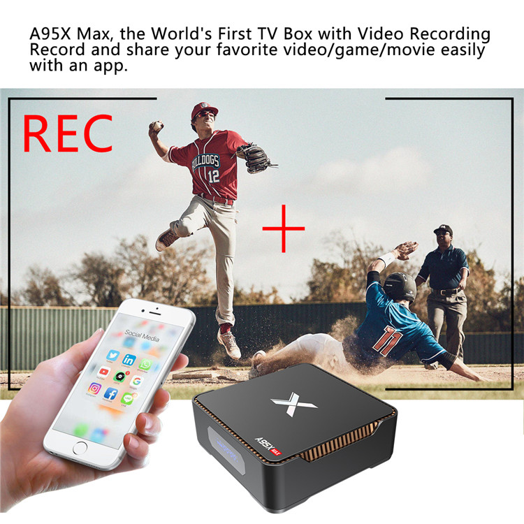 S905X2 TV Box A95X MAX Ultra 4K 4GB RAM 64GB ROM Android 8.1 TV Box