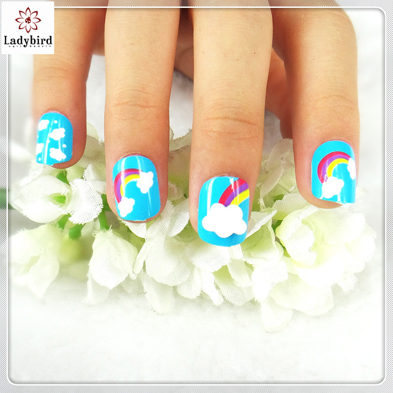 Ladybird Non-toxic Nail Tips/colored Acrylic Nail Tips/children Nail ...