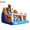 Giant dinosaur inflatable castle slide for kids and adults