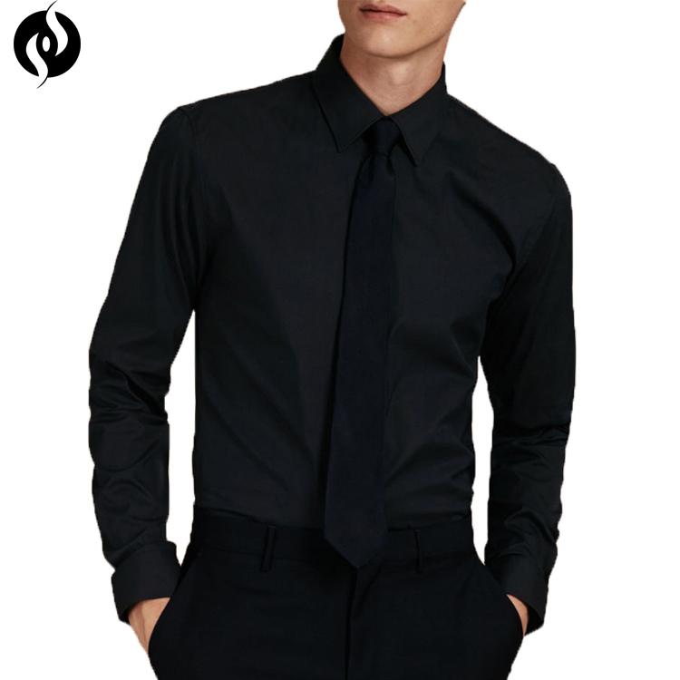 Oem Black Slim Fit Latest Pent Shirts Pattern Men's Dress Shirt ...