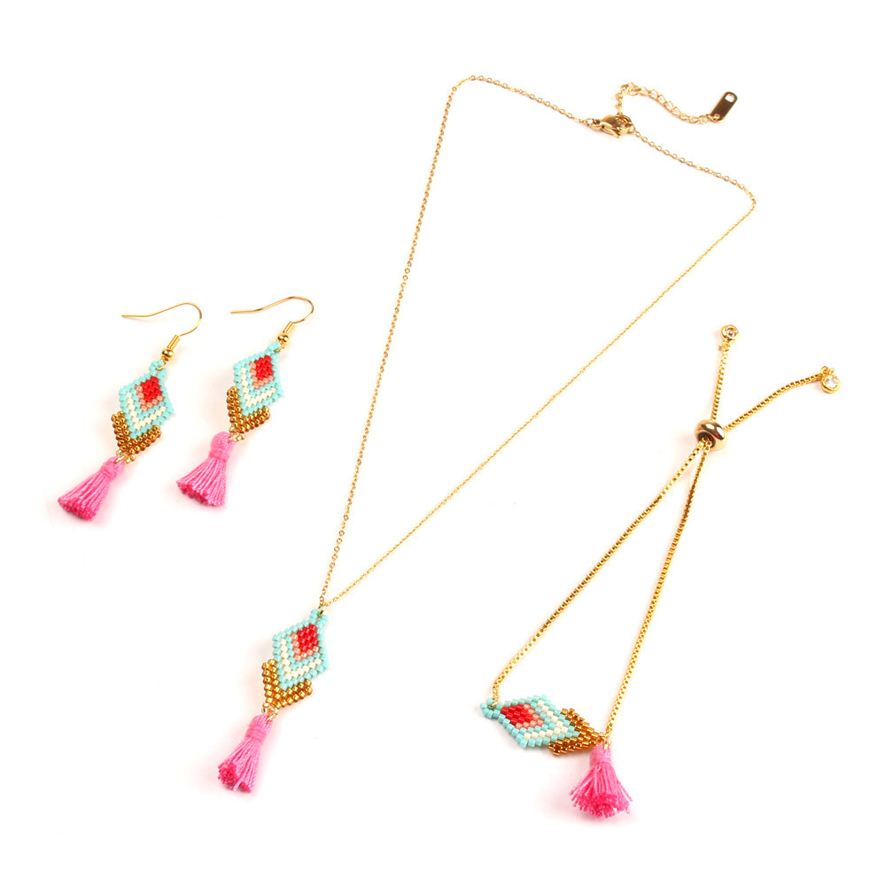 Lancui High Quality Jewelry Latest Fashion Necklace Earring Bracelet Accessories Bohemian Women Jewelry
