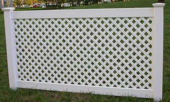 White Vinyl Lattice Pvc Fence Square Buy Lattice Pvc