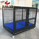 Luxurious metal square tube dog cage kennel with wheels