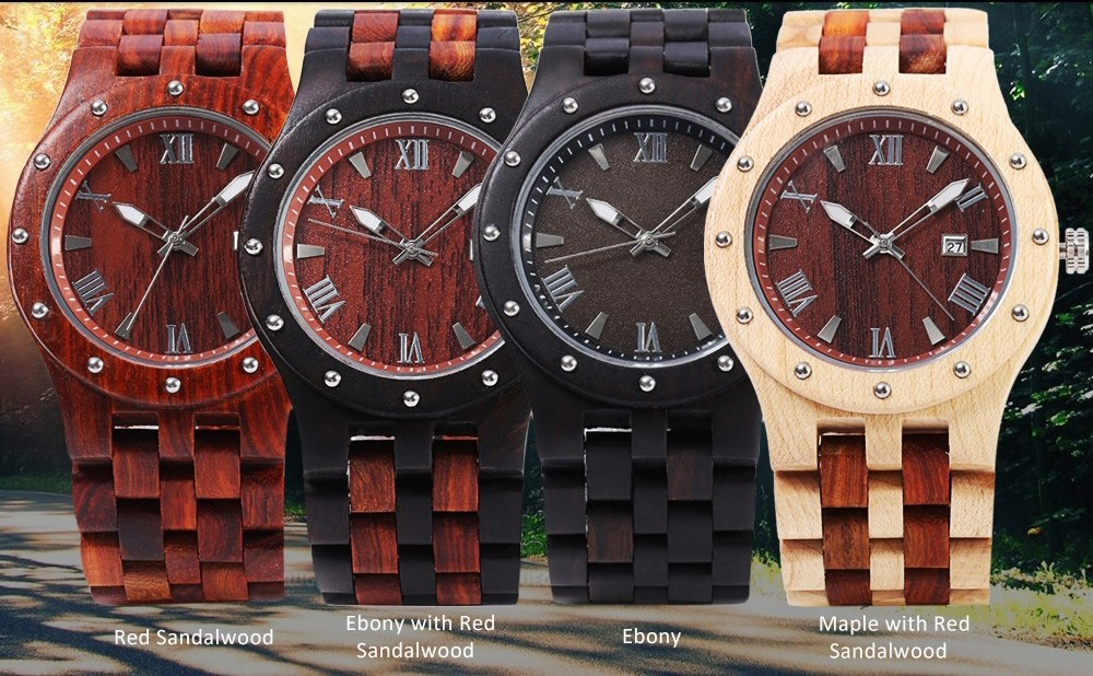 bewell diamond watch wooden sandalwood watches natural maple women gift calendar wood product