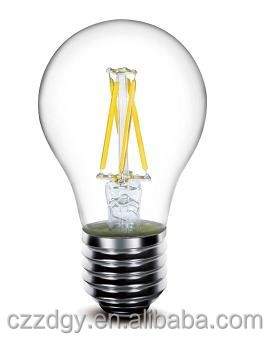 China amber color A19 2 filaments filament bulb led