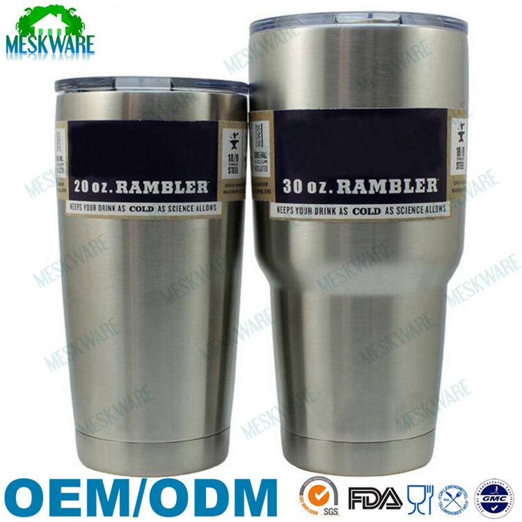 Double wall vacuum insulated premium stainless steel rtic 30 oz tumbler