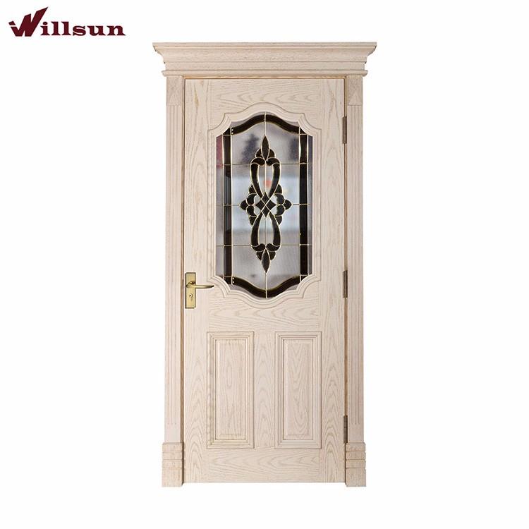 High Quality Soundproof Glass Interior Doors Oak Door Frame External  Commercial Interior Doors With Glass
