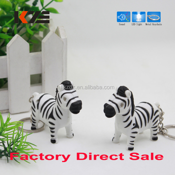 Keychain Factory Zebra Keyring Horse Light Up Animal Sound Led Keychain -  Buy Light Up Animal Keychain,Animal Led Keychain,Animal Sound Led Keychain