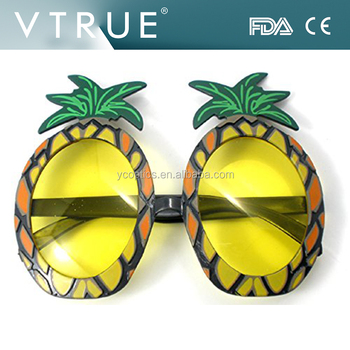 3 x Pineapple Sunglasses Glasses Specs Hawaiian Hula Fancy Dress Up Costume Accessory by Henbrandt 9muaL