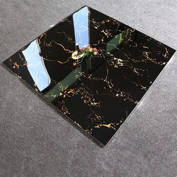 24x24 Super Glossy Black Galaxy Marble Design Glazed Ceramic Tiles Of Vietnam