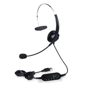 Best Quality USB Interface Noise Reduction Single Earpiece Computer Universal Listening Call Center Operator Headset