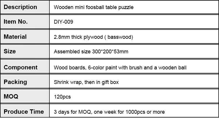 DIY Mini Foosball Table Wooden Toys For Kids