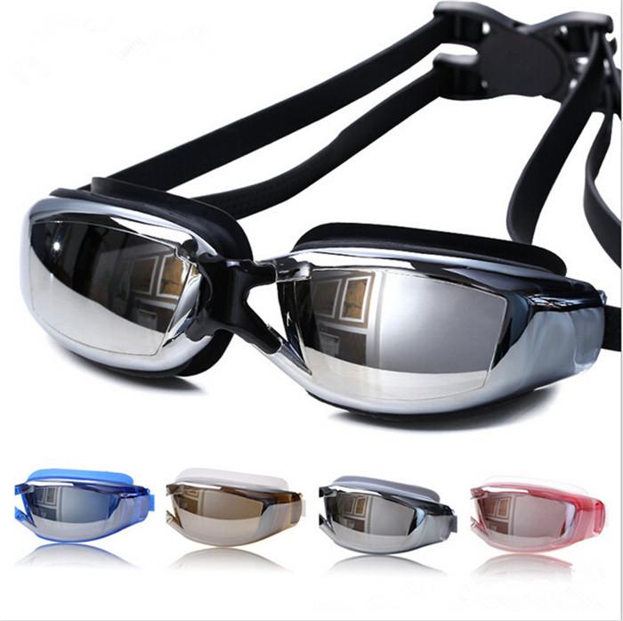 6423d711f8dae 2016 Marca New Homens Mulheres Anti Fog UV Óculos de Natação Profissional  Galvaniza Óculos de Mergulho