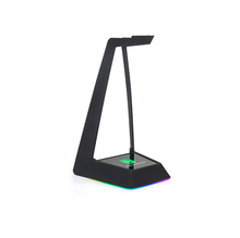 Shenzhen Blauw solids Headset stand OEM backlight LOGO ASB <span class=keywords><strong>plastic</strong></span> USB 3 hub hoofdtelefoon display stand met LED voor headset display