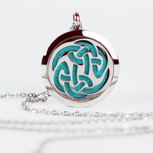 Best Selling Products Celtic Knot Essential Oil Diffuser Locket Aromatherapy Necklace