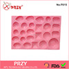 PRZY new design jewelry cake decorative silicone silicone fondant mold