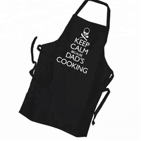 Custom Black Color Printed Apron For Kids With Cartoon Logo