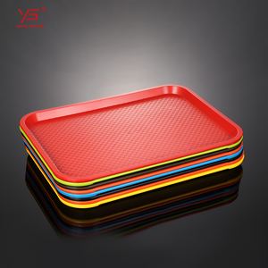 Buy online abs teabag tray plastic food serving tray abs black rectangular large plastic hotel trays